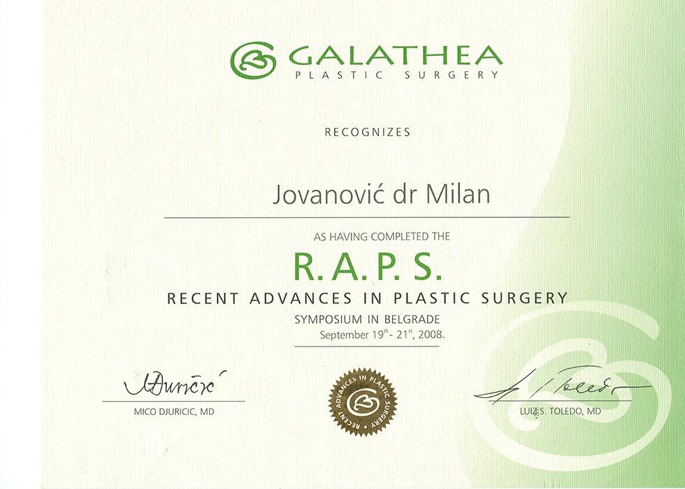 Diploma hirurga, sertifikat, RAPS