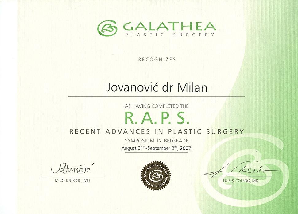 Diploma hirurga, sertifikat, RAPS VI