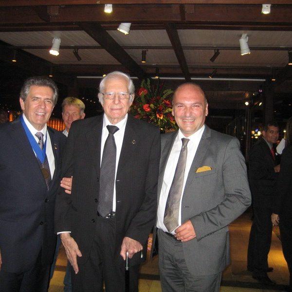 Prof. dr Milan Jovanović i Prof. RICARDO BAROUDI, levo Prof. Carlos Uebel, 2014