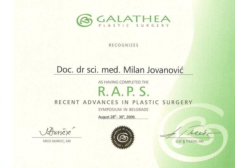 Diploma hirurga, sertifikat, RAPS VIII