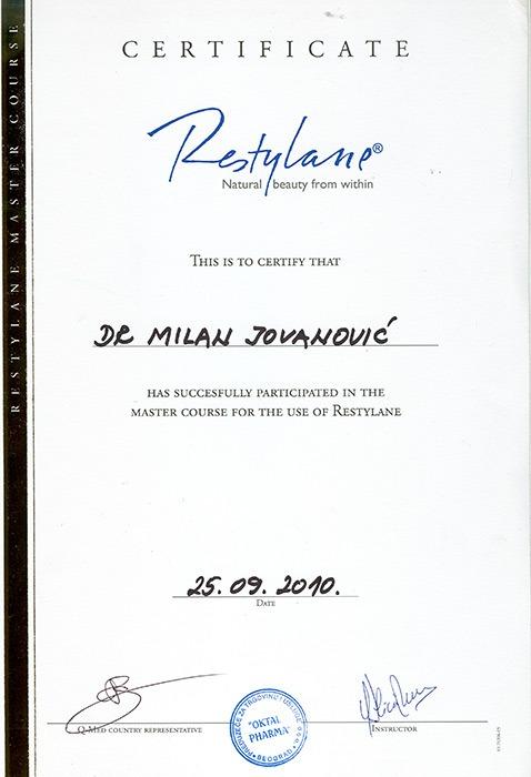 Diploma hirurga, sertifikat