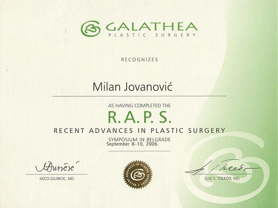 Diploma hirurga, sertifikat, RAPS V