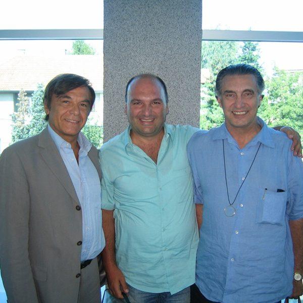 Prof. dr Alain Fogli (France), Prof. dr Jovanović i Prof. dr Luiz Toledo (Brazil), Galathea 2006.