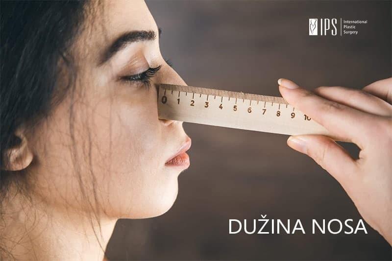 Veličina i dužina nosa se lako mogu izmeriti u centimetrima